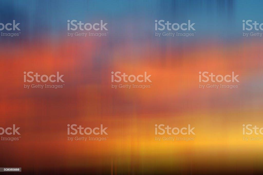 Motion Blur Sunset Background stock photo