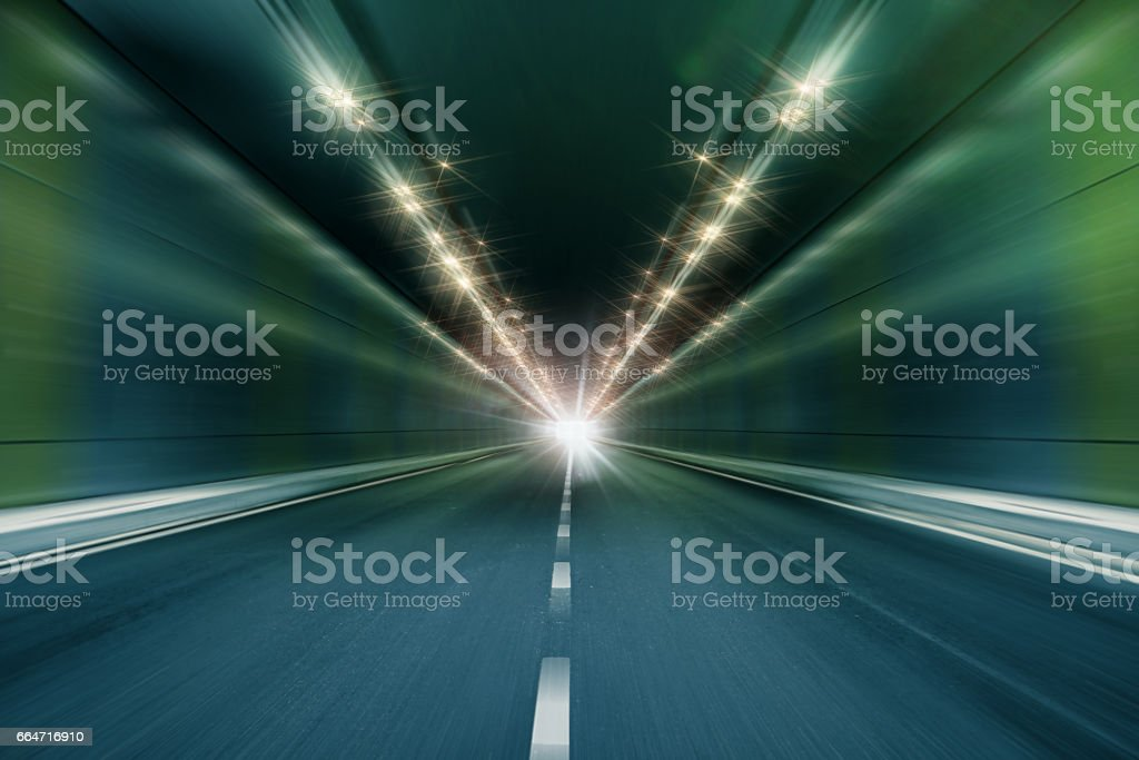 motion blur tunnel perspective background stock photo
