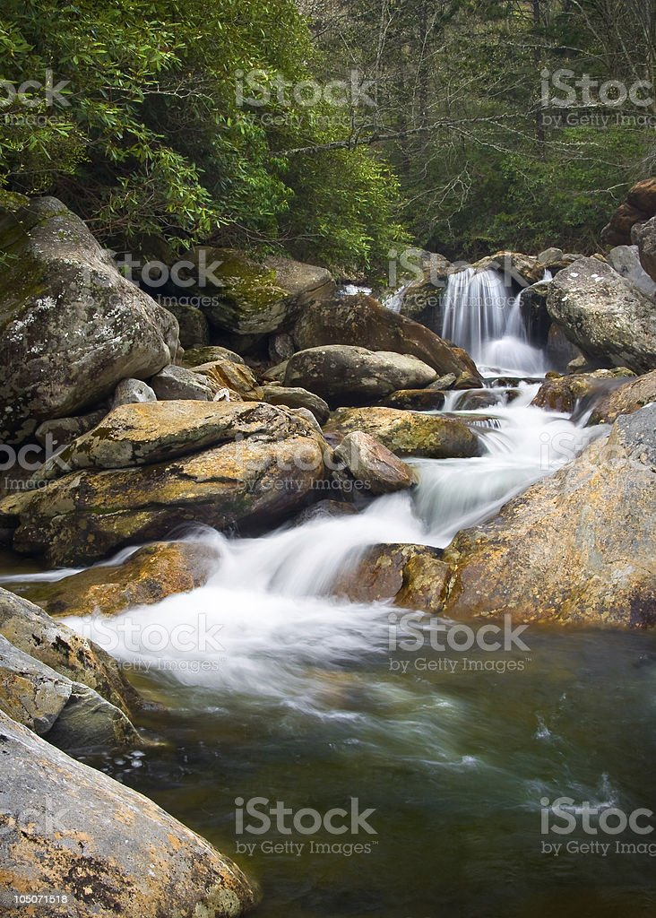 Motion Blur Waterfalls Nature Landscape in Blue Ridge Mountains royalty-free stock photo