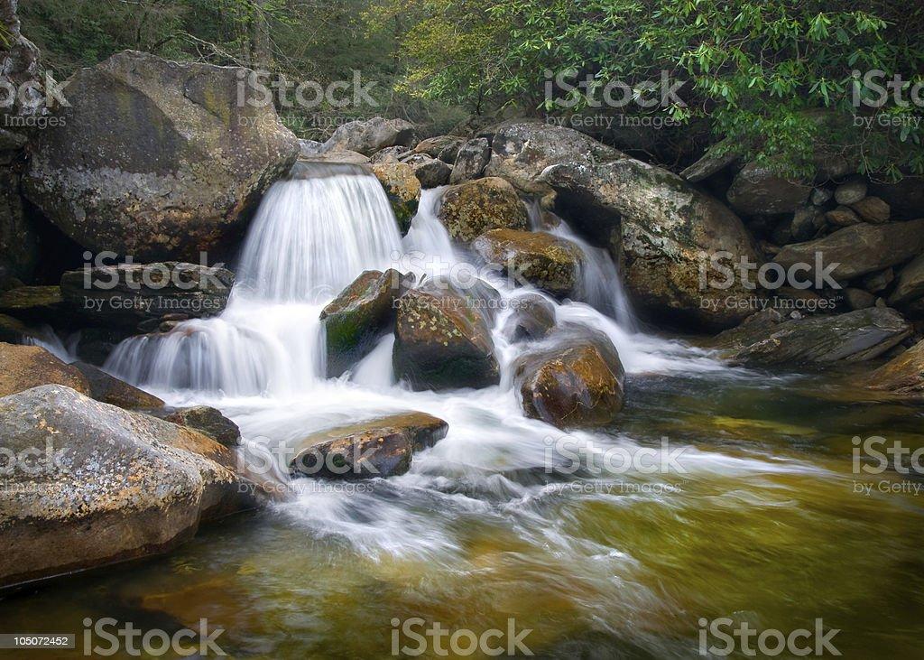 Motion Blur Waterfalls Nature Landscape in Blue Ridge Mountains royalty-free stock photo
