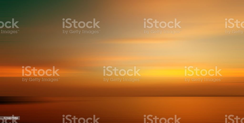 Motion blurred background of refraction in the sea stock photo