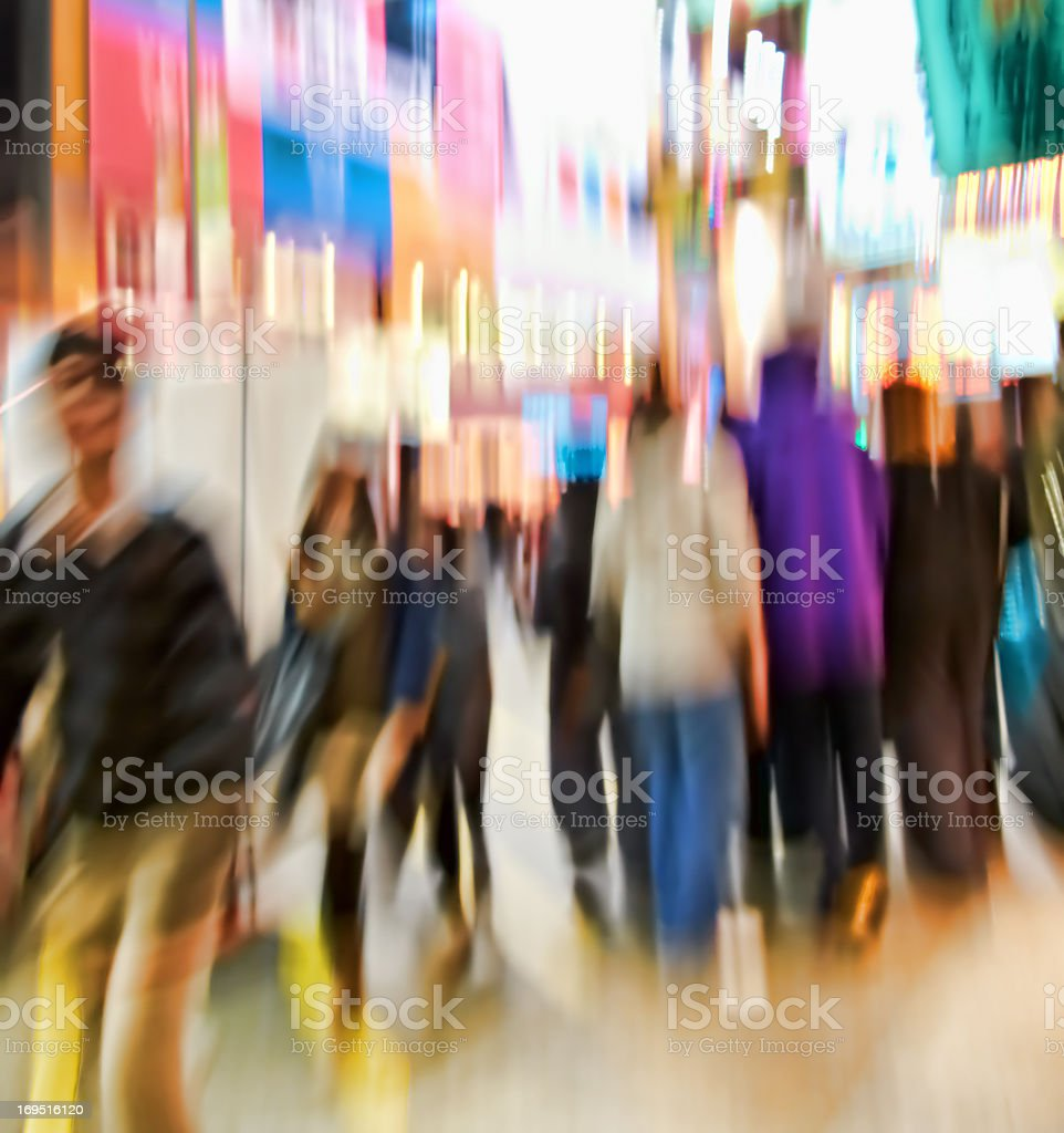 Motion blurred city life royalty-free stock photo