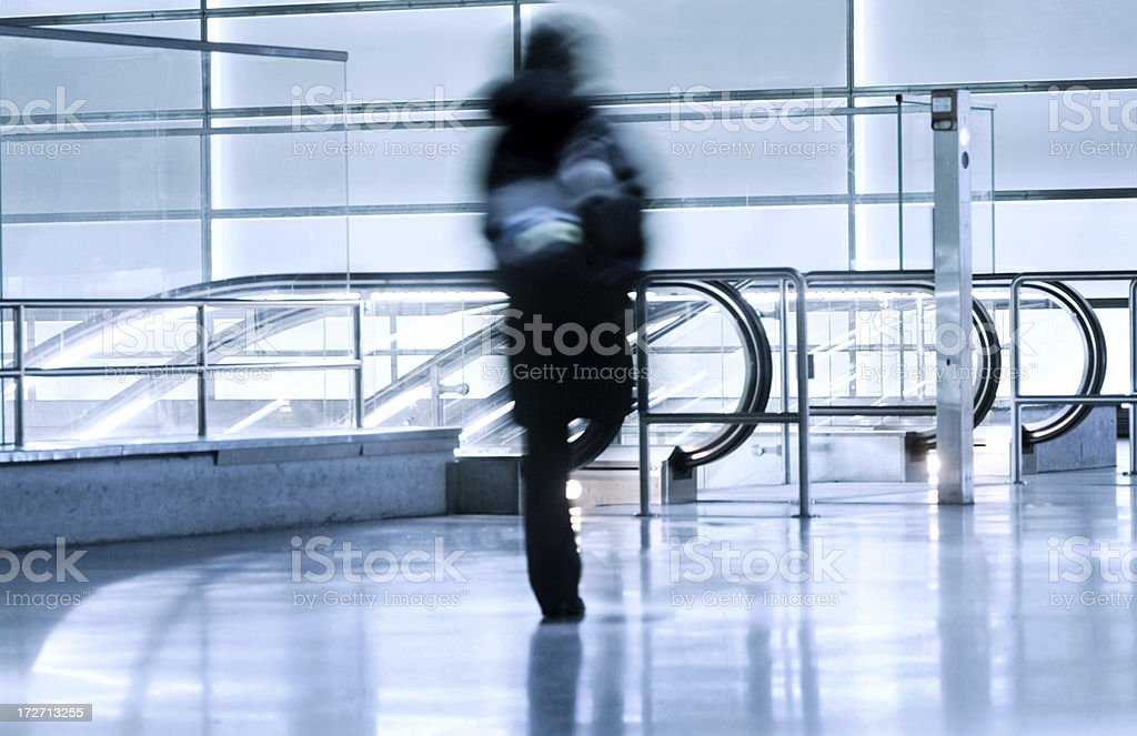 Motion blurred commuter royalty-free stock photo