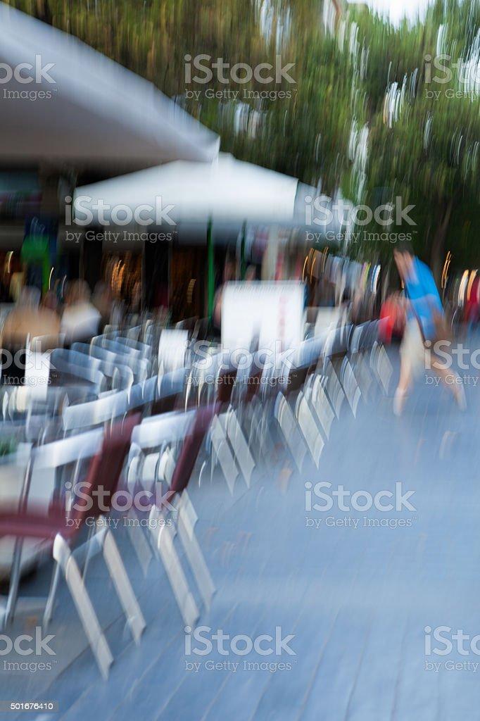 Motion blurred man stock photo