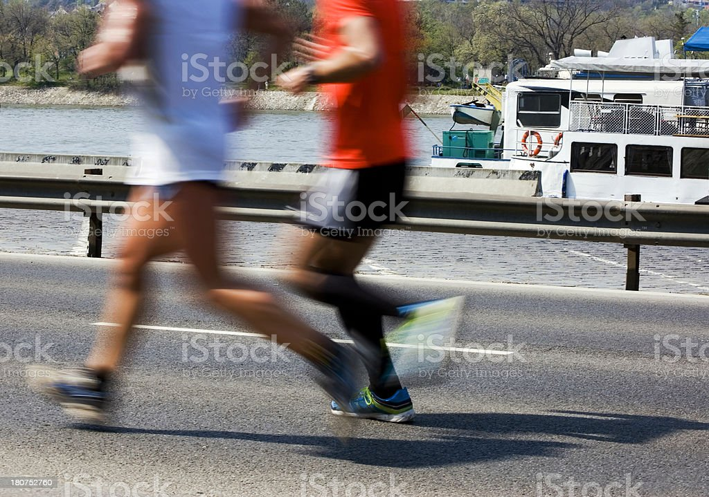 Motion Blurred Runners Racing royalty-free stock photo