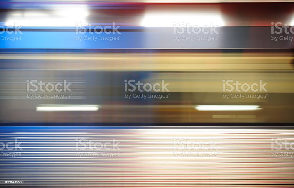 Motion blurred train royalty-free stock photo