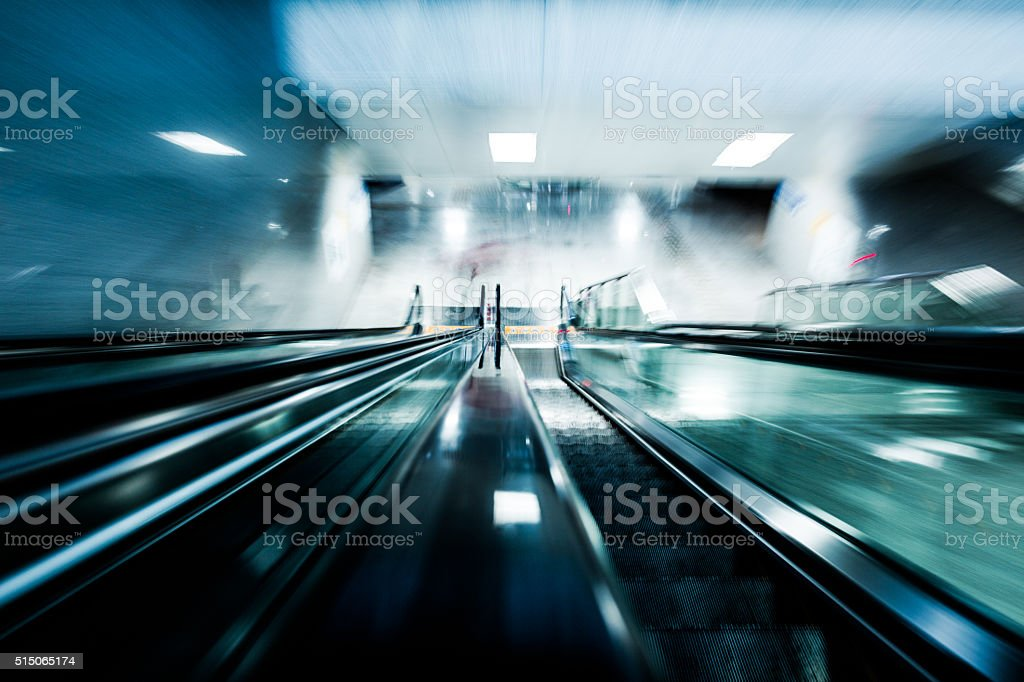 motion escalator stock photo