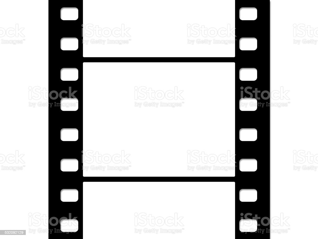 Motion film strip isolated on white stock photo