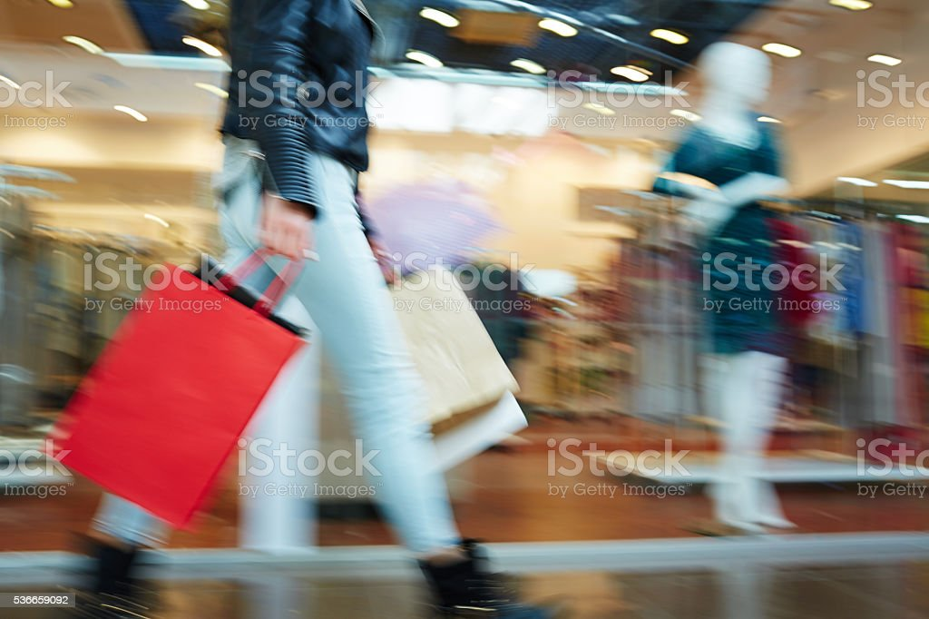 Motion in store stock photo