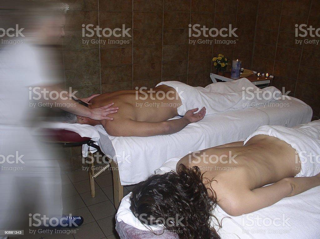 Motion Massagist royalty-free stock photo