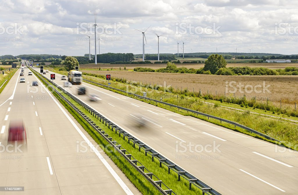 Motion on the motorway stock photo