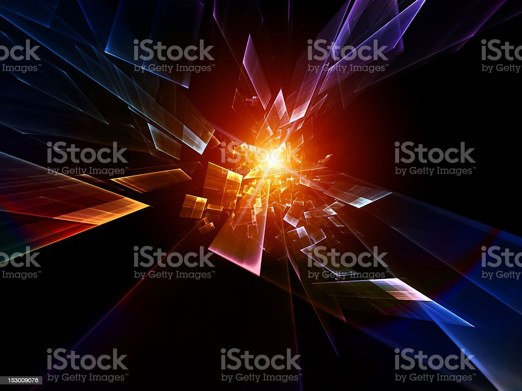 Motion Particles Abstract royalty-free stock photo