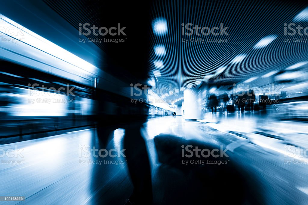 motion passengers royalty-free stock photo