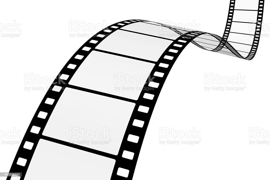Motion Picture Film on White royalty-free stock photo