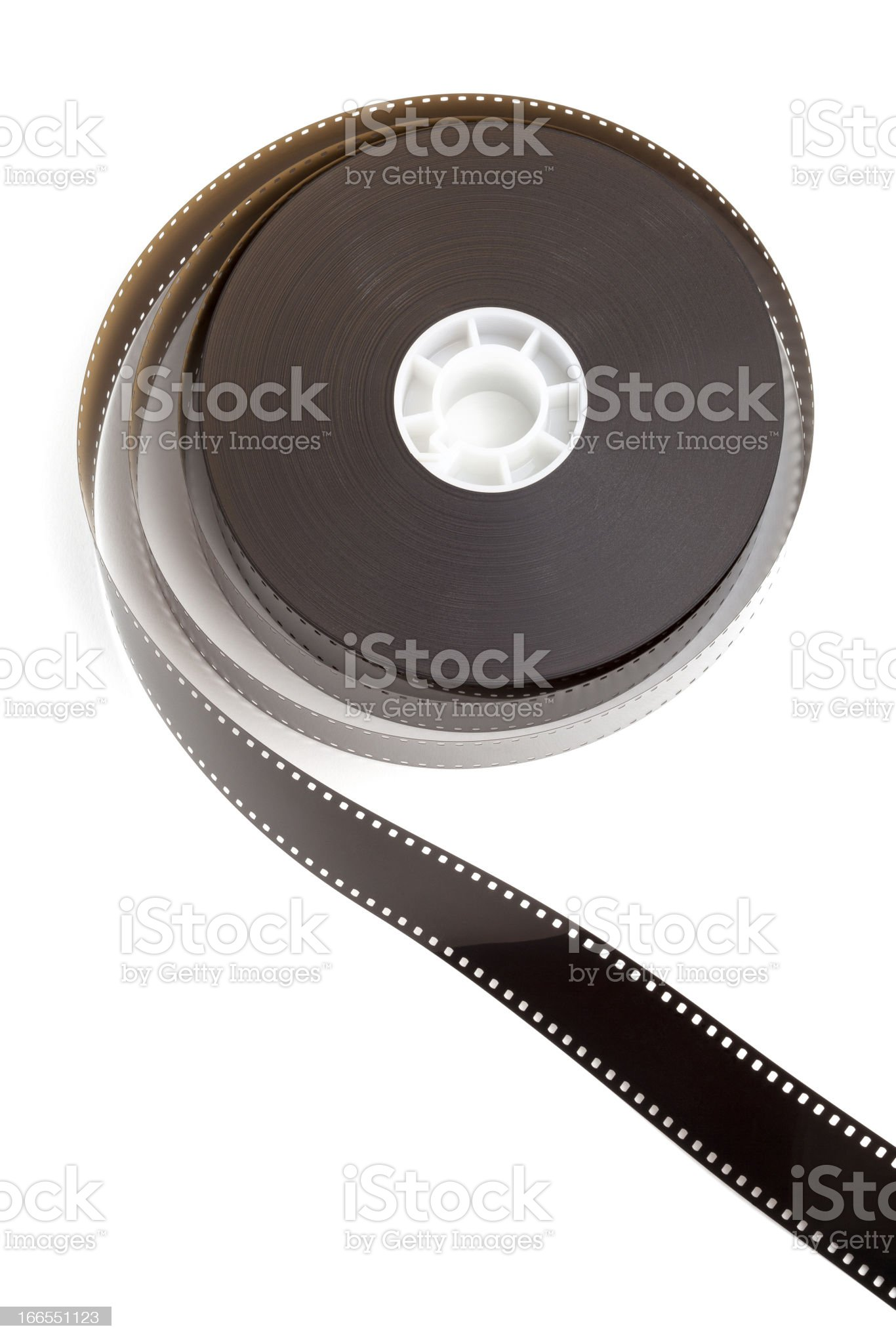 Motion picture film strip, movie reel royalty-free stock photo