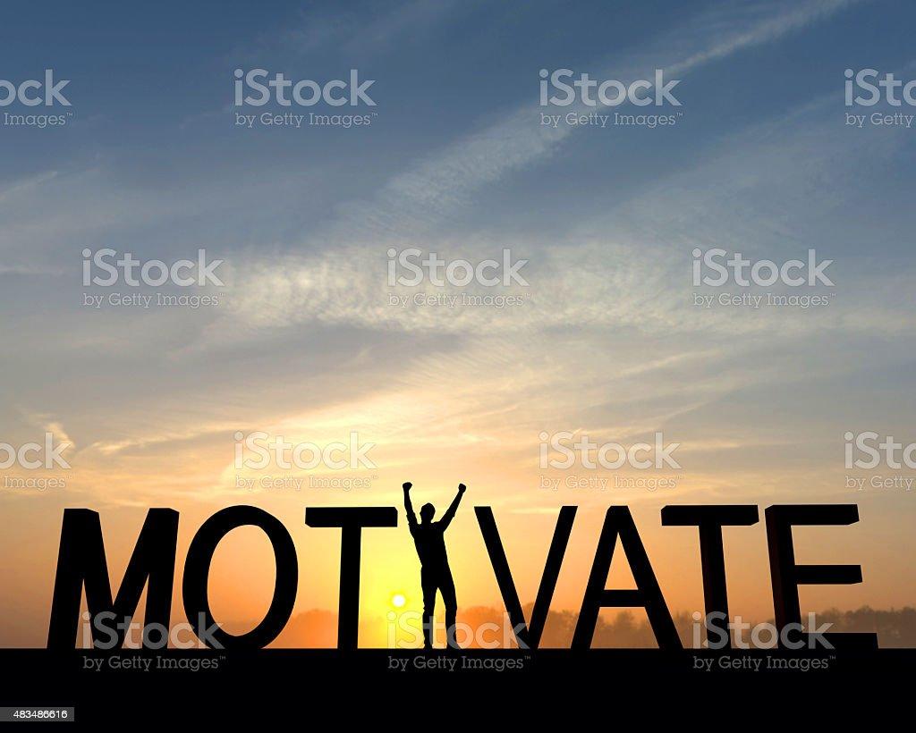 Motivate success silhouette stock photo