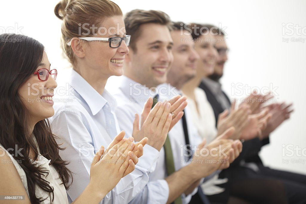 Motivated business people stock photo