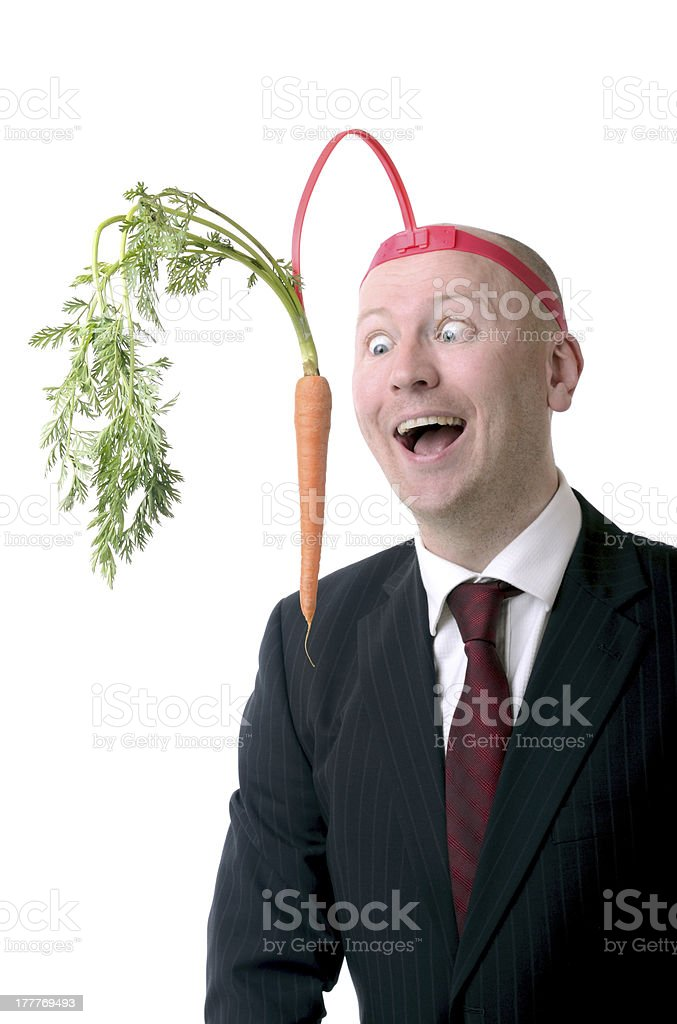 motivation carrot royalty-free stock photo