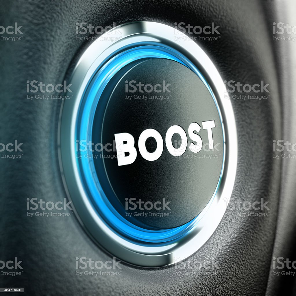 Motivation Concept - Boost Button royalty-free stock photo