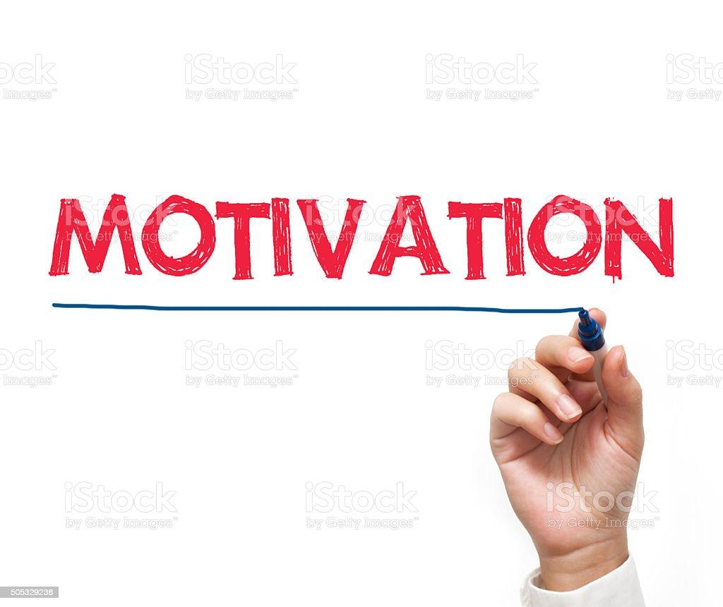 Motivation / Felt tip pen concept (Click for more) stock photo
