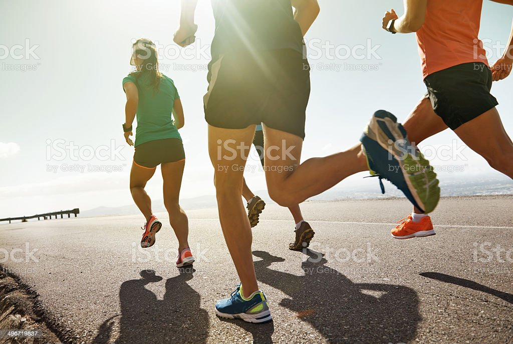 Motivation fuels the human engine stock photo
