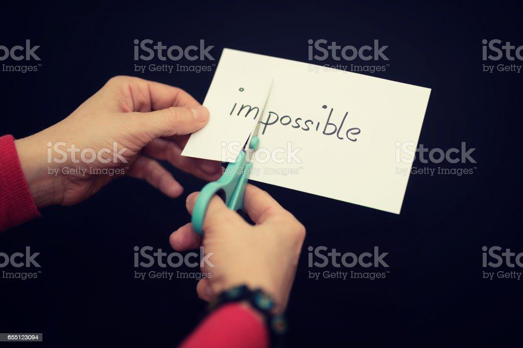 motivation - impossible stock photo