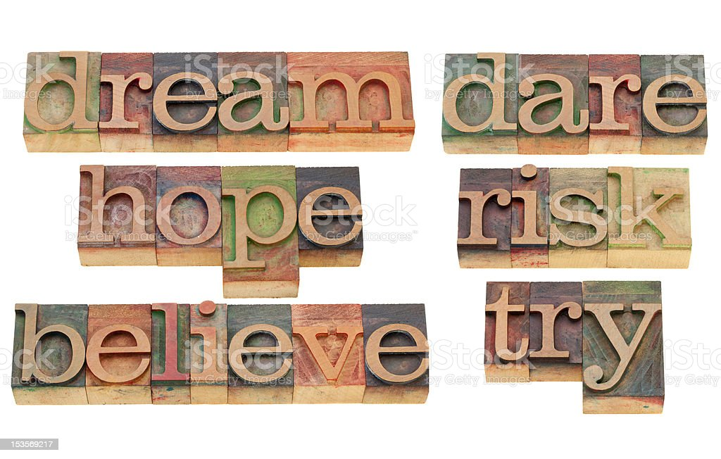 motivational and encouraging words royalty-free stock photo