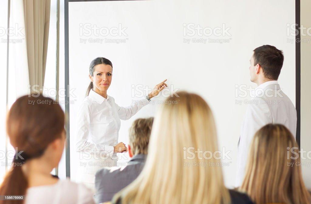 Motivational business speech royalty-free stock photo