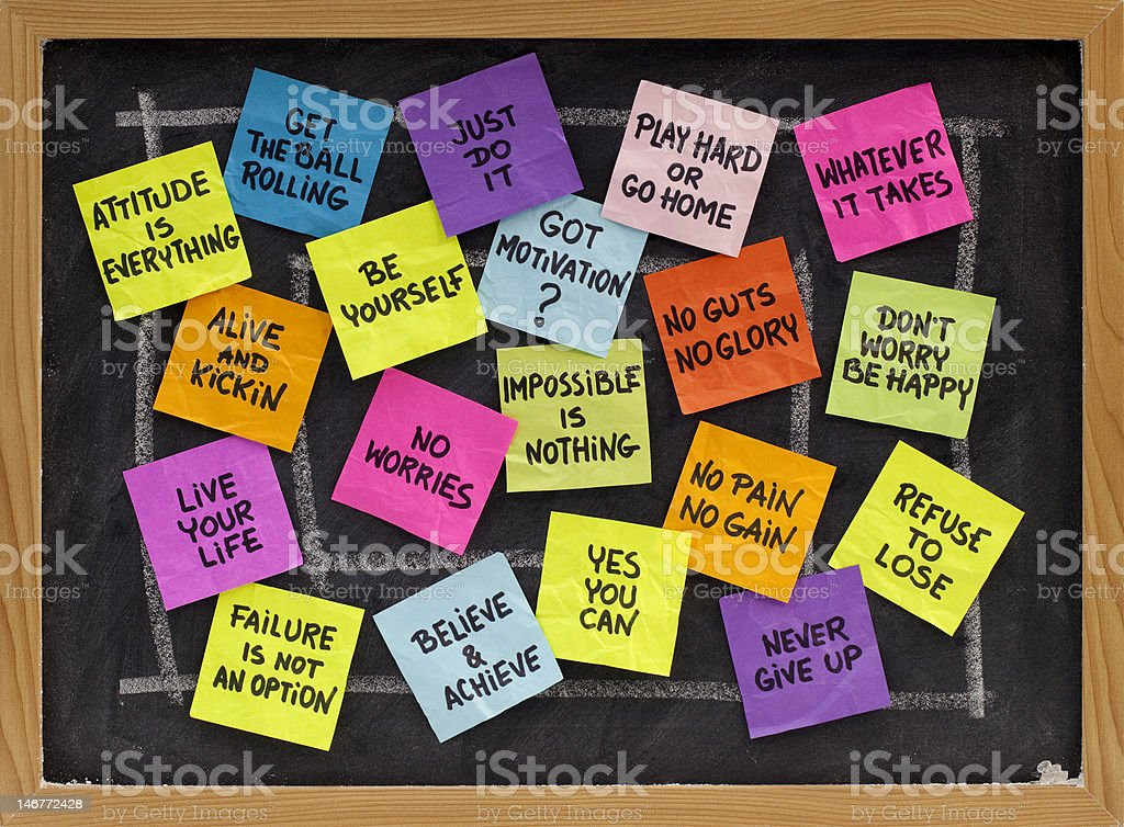 motivational slogans and phrases royalty-free stock photo