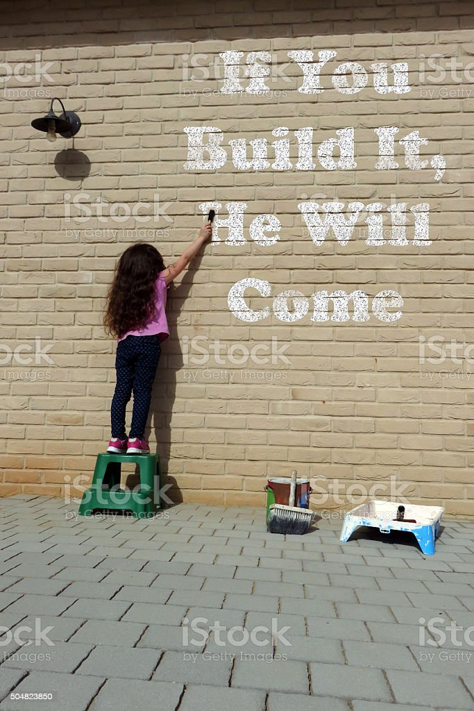 motivational speaker -If You Build It, He Will Come stock photo