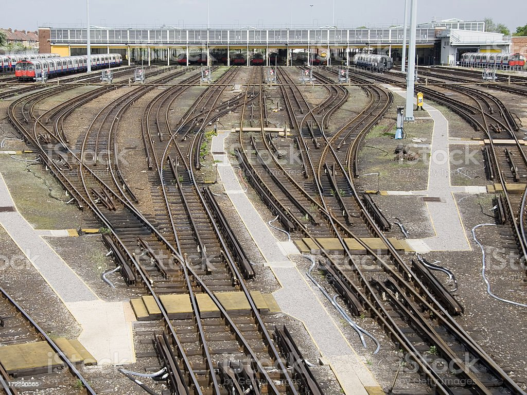 Motive Power Depot, London, England royalty-free stock photo