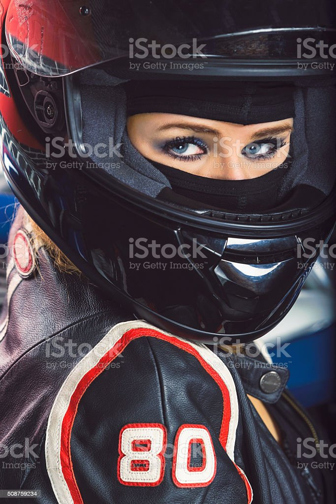 Moto close up stock photo
