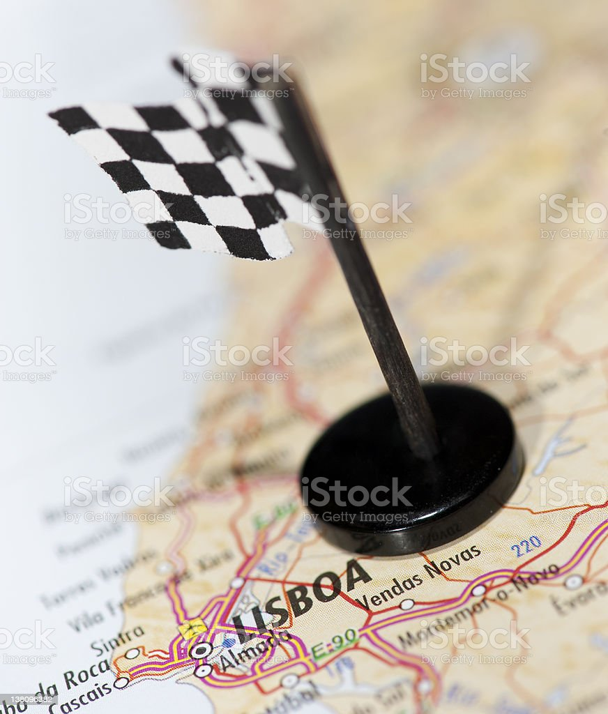 Moto GP Racing Track in Portugal royalty-free stock photo
