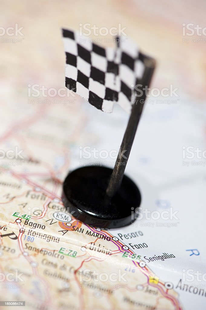 Moto GP Racing Track in San Marino stock photo