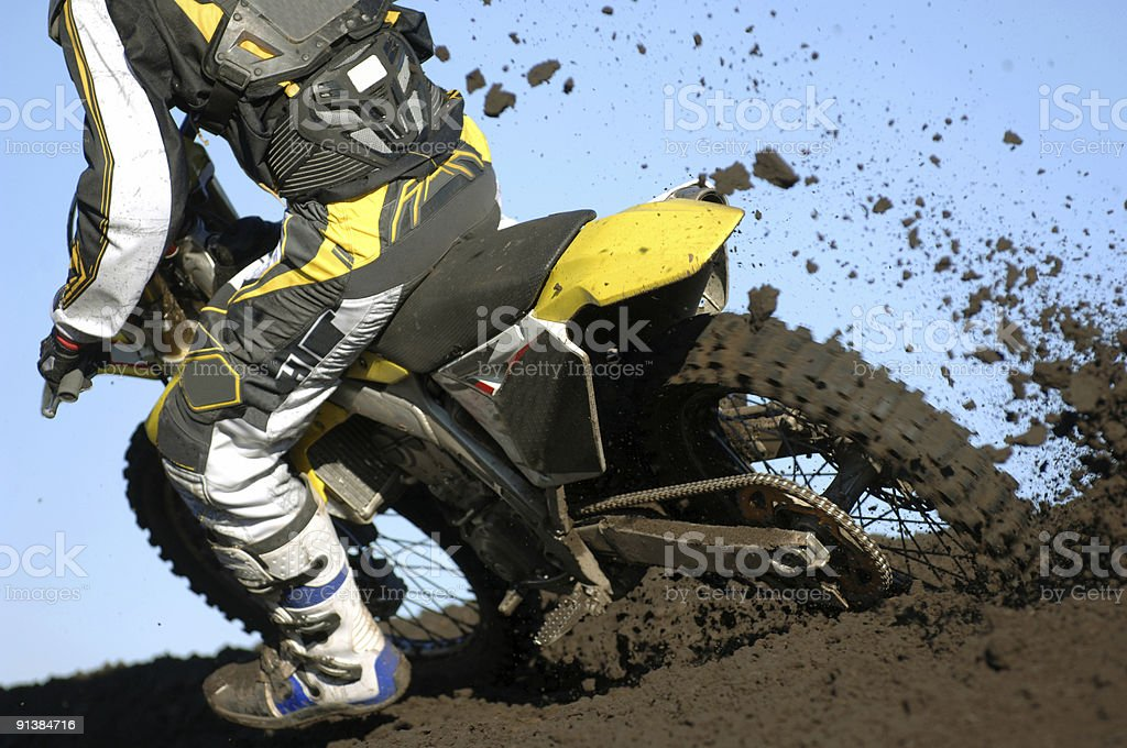 Moto mud 04 royalty-free stock photo
