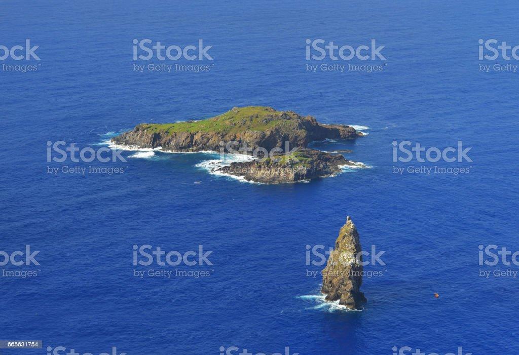 Moto Nui Easter Island stock photo