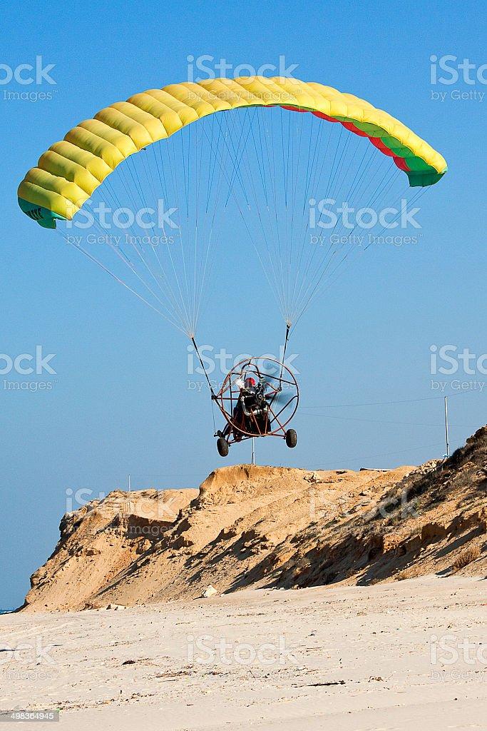 Moto paraglider stock photo
