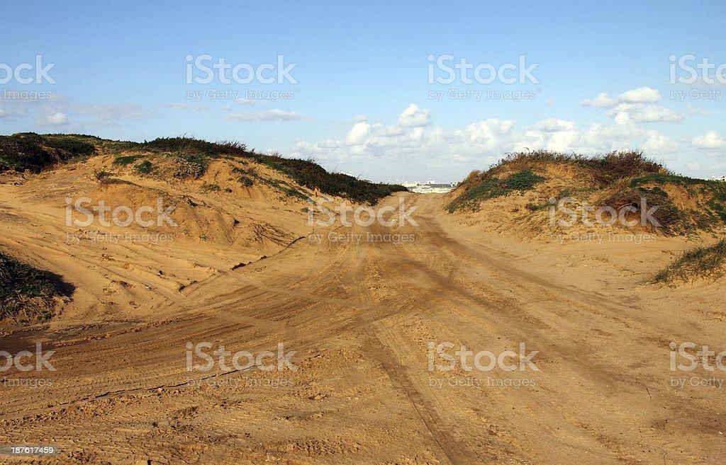 Motocross and motosport track stock photo