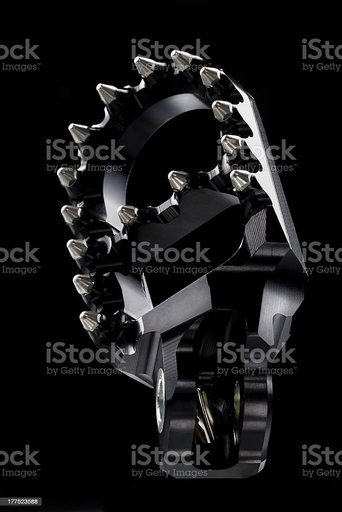 Motocross black pedal royalty-free stock photo