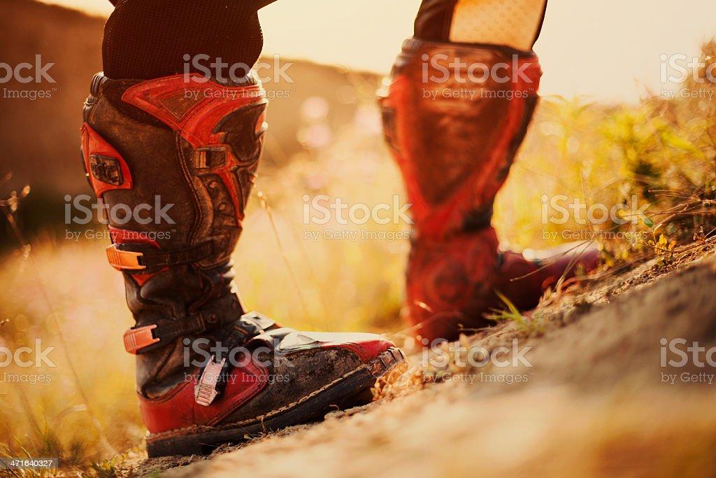 Motocross boots royalty-free stock photo