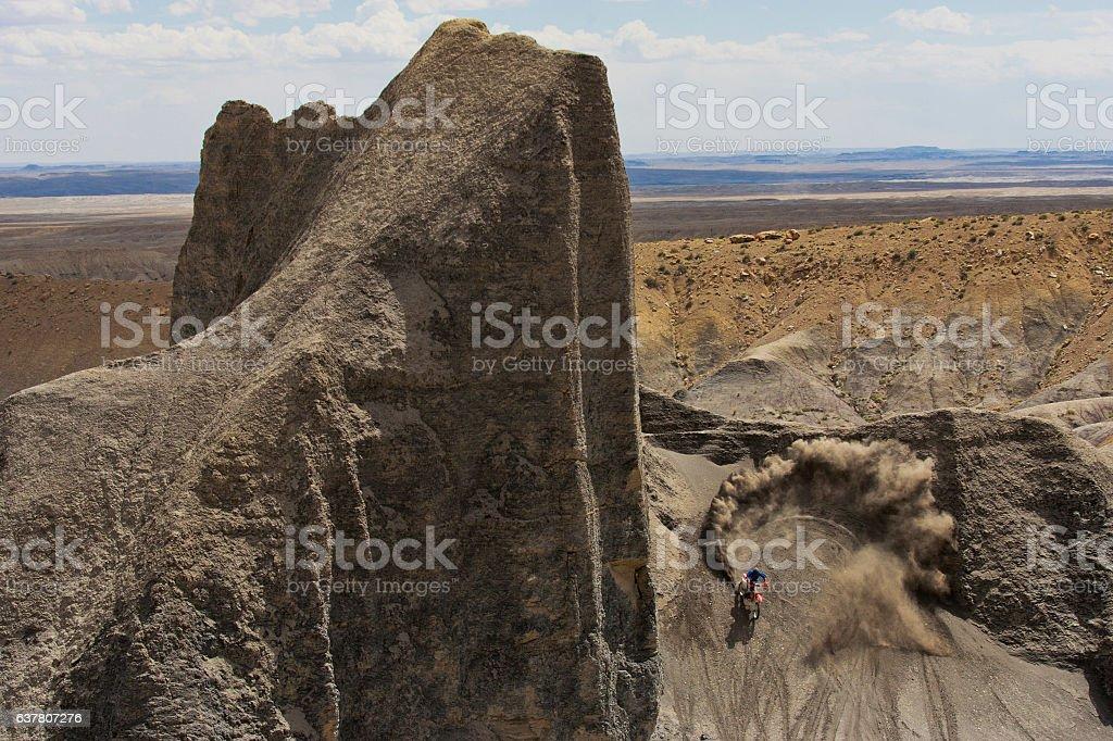 Motocross Desert Rider stock photo