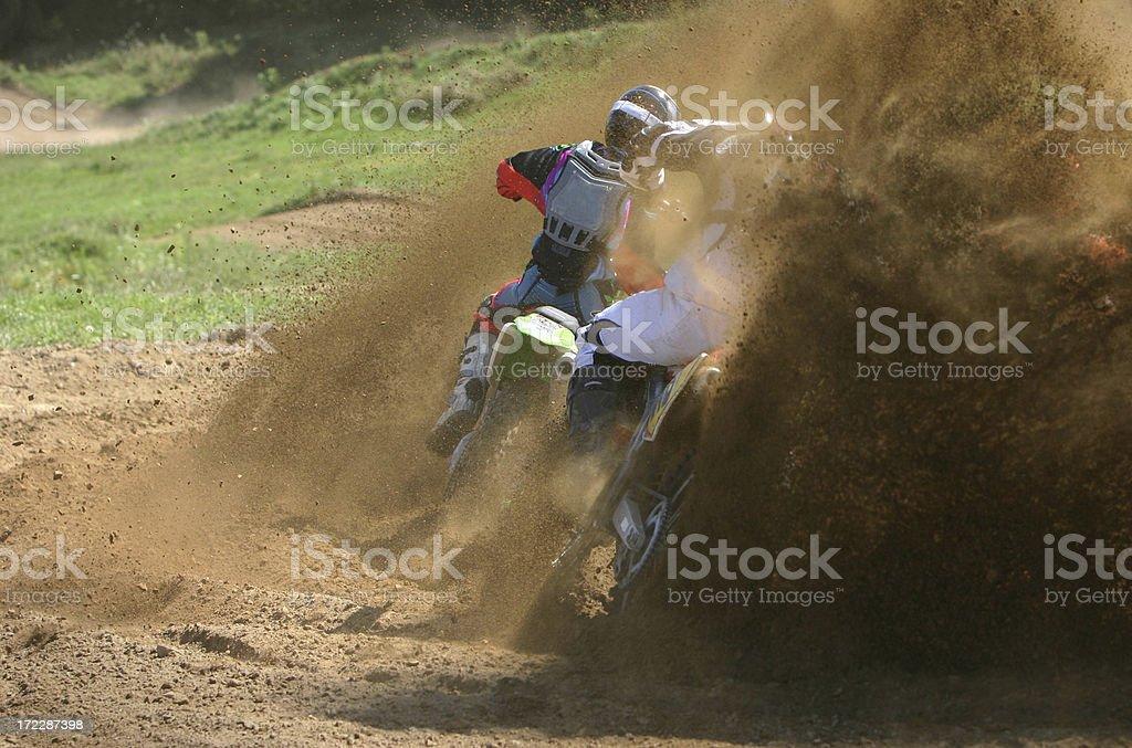 Motocross dirt stock photo