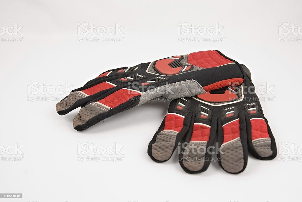 Motocross Gloves royalty-free stock photo