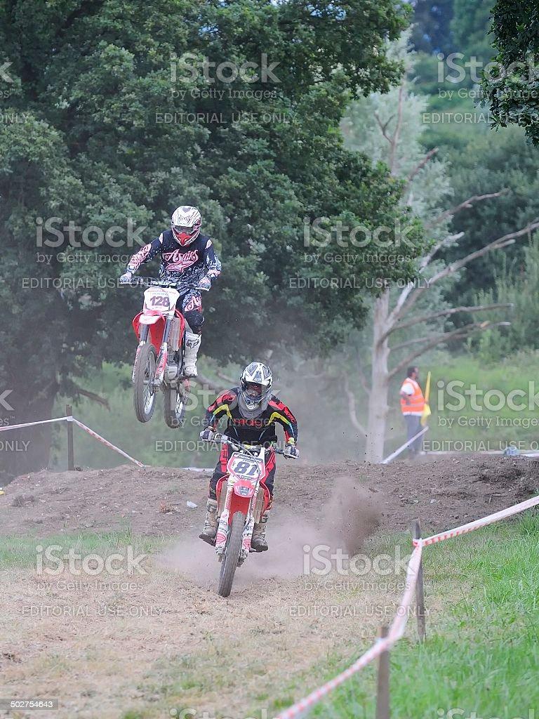 Motocross in El Berron, Asturias, spain. stock photo