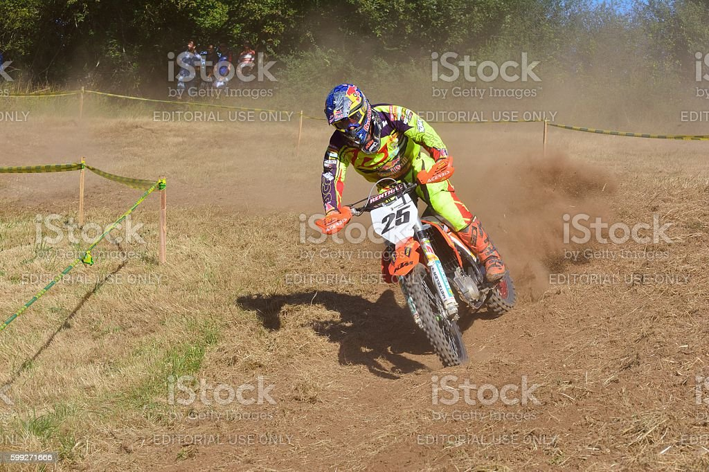 Motocross in Sariego, Spain. stock photo