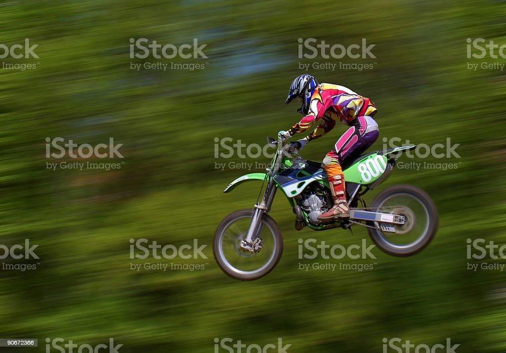 motocross jump royalty-free stock photo