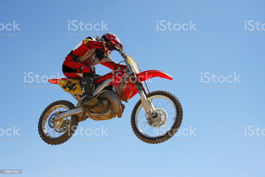 Motocross Jumper royalty-free stock photo