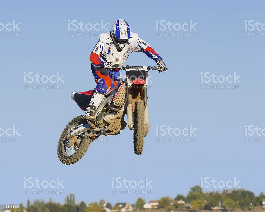 Motocross Motorcycle Jump royalty-free stock photo