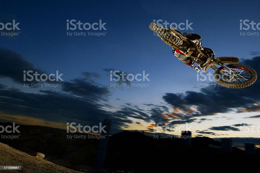 Motocross NIght  Jump stock photo