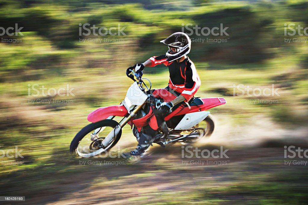Motocross Pan Horizontal stock photo